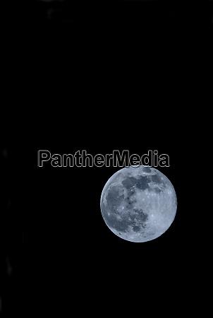 full moon against clear night sky