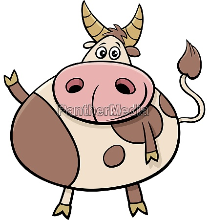 cute bull farm animal comic character