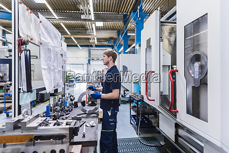 man working at workbench in a