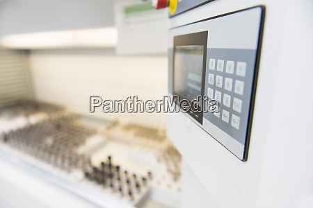 close up of a keypad for