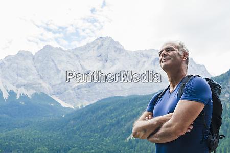 senior man enjoying view