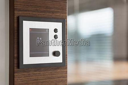 close up of digital sauna controlled