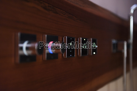 digital push buttons of kitchen sink