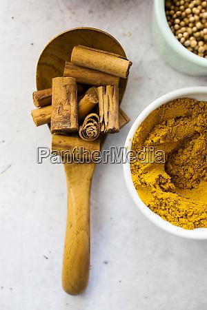 cinnamon and curry powder