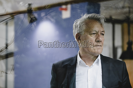 portrait of senior businessman looking worried