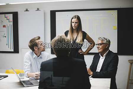 business people having a client meeting