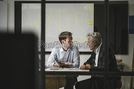 entrepreneurs having a meeting in modern