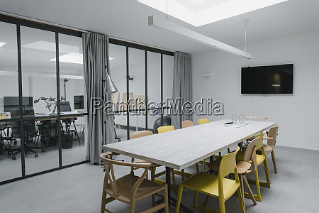 interior of conference room in modern