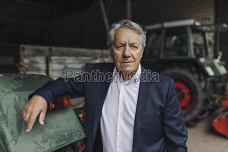 portrait of a senior businessman on