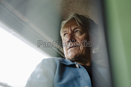 portrait of a senior man on