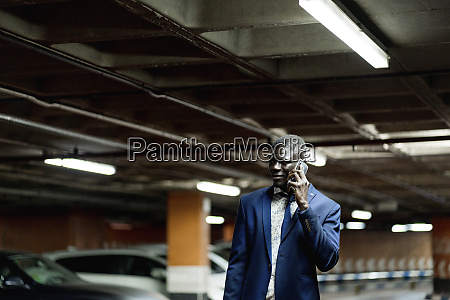 young businessman on the phone in