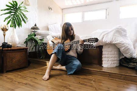 woman sitting on the floor in