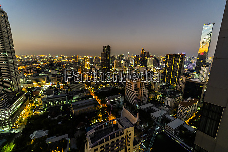 skyline at night bangkok thailand