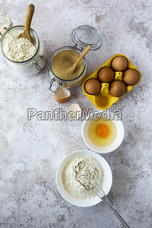 wire whisk chicken eggs and jars