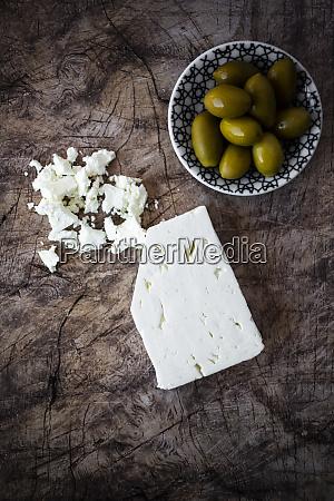 feta cheese and bowl of fresh