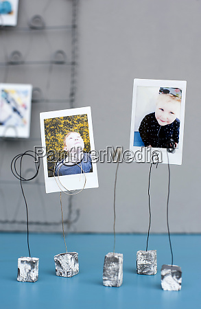 simple photo holders made from clay