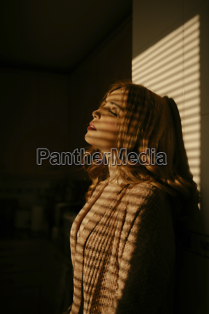 portrait of beautiful blond woman at