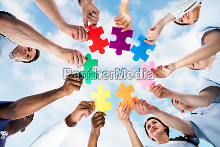 medical doctor puzzle group circle