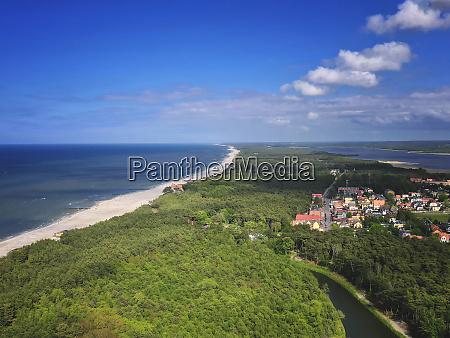 poland pomerania leba aerial view of