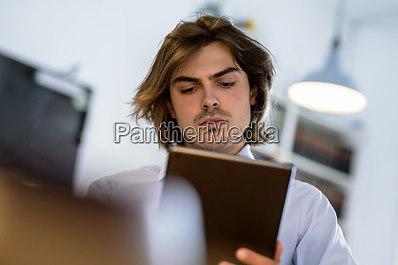 close up of male professional using