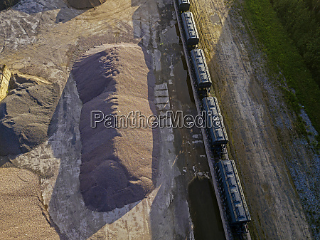 russia tikhvin aerial view of railroad
