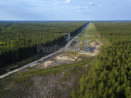 russia leningrad oblast tikhvin aerial view