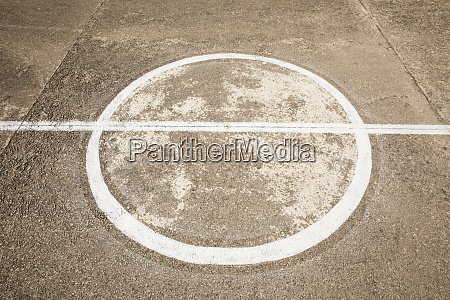 marking on concrete ground