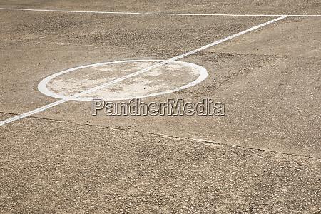 marking on concrete ground