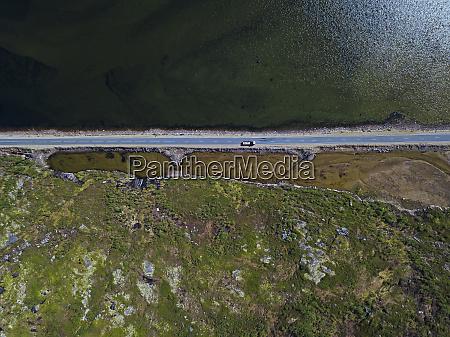 coastal road aerial view