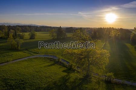 germany bavaria bad heilbrunn drone view