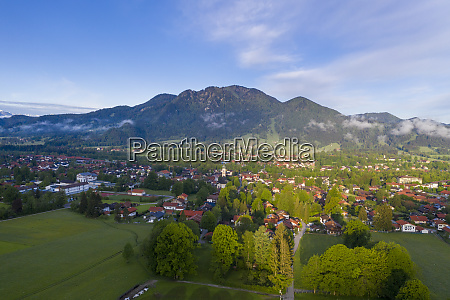 germany bavaria lenggries drone view of