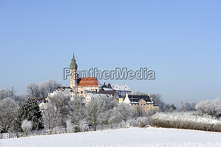 germany bavaria andechs clear sky over