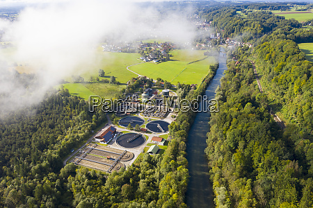 germany bavaria wolfratshausen drone view of