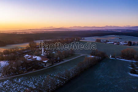 germany, , bavaria, , dietramszell, , drone, view, of - 28752693