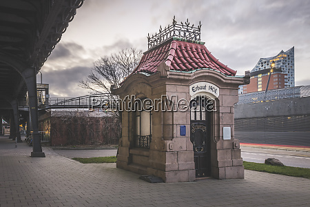 germany hamburg historical sielhauschen pavilion