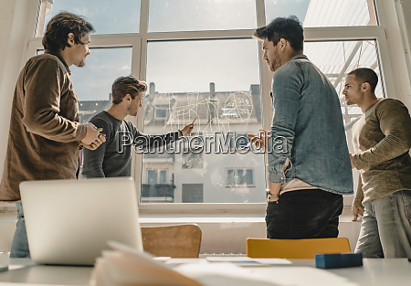 young entrepreneurs having a meeting in