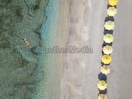 indonesia bali aerial view of young