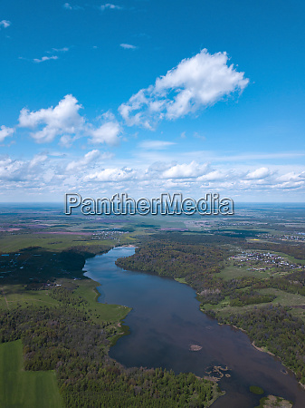 russia moscow oblast aerial view ofdubna