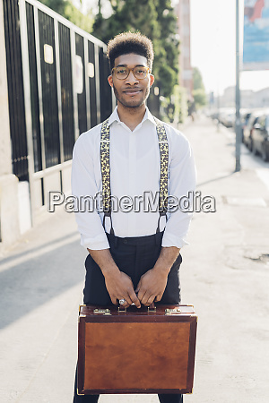 portrait of a confident stylish young