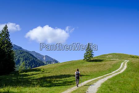 germany bavaria lone hiker on way