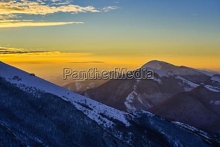 italy monte motette at winter dawn
