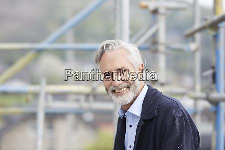 portrait of a smiling mature man