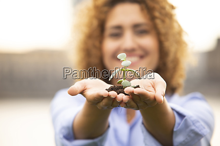 close up of female entrepreneur with
