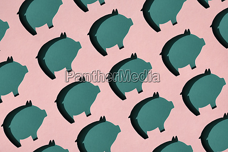 pattern of rows of pig shaped