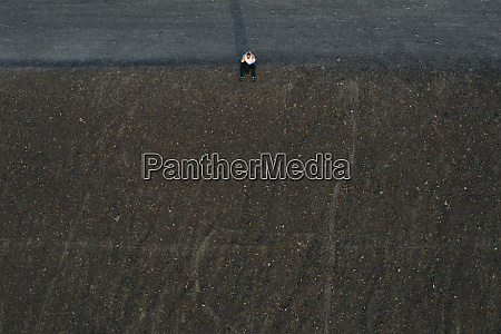 male, entrepreneur, sitting, on, hill, , drone - 28757837
