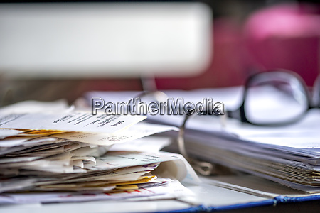 binder with various receipts and documents