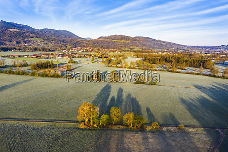 germany bavaria bad feilnbach aerial view
