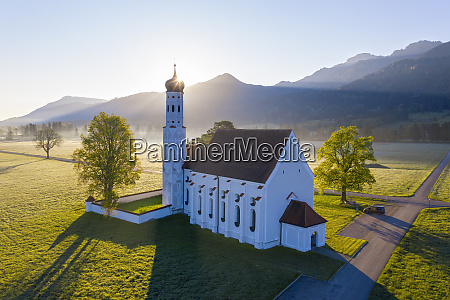 germany bavaria schwangau drone view of