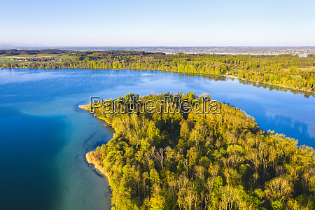 germany bavaria inning am ammersee drone