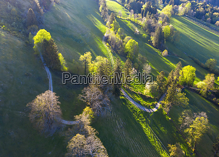 germany bavaria gaissach drone view of